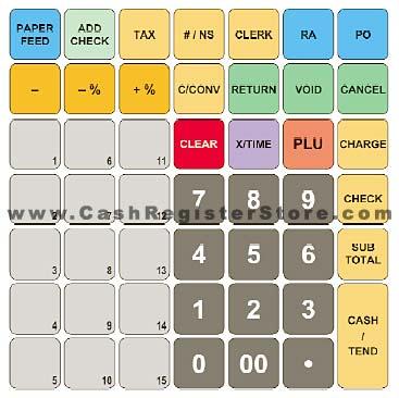 Sam4s ER-265 Keyboard Layout