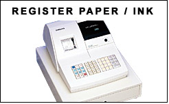 Cash Register Paper Rolls and Ink Ribbons