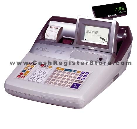 Casio TE-3000SS Electronic Scanning Cash Register